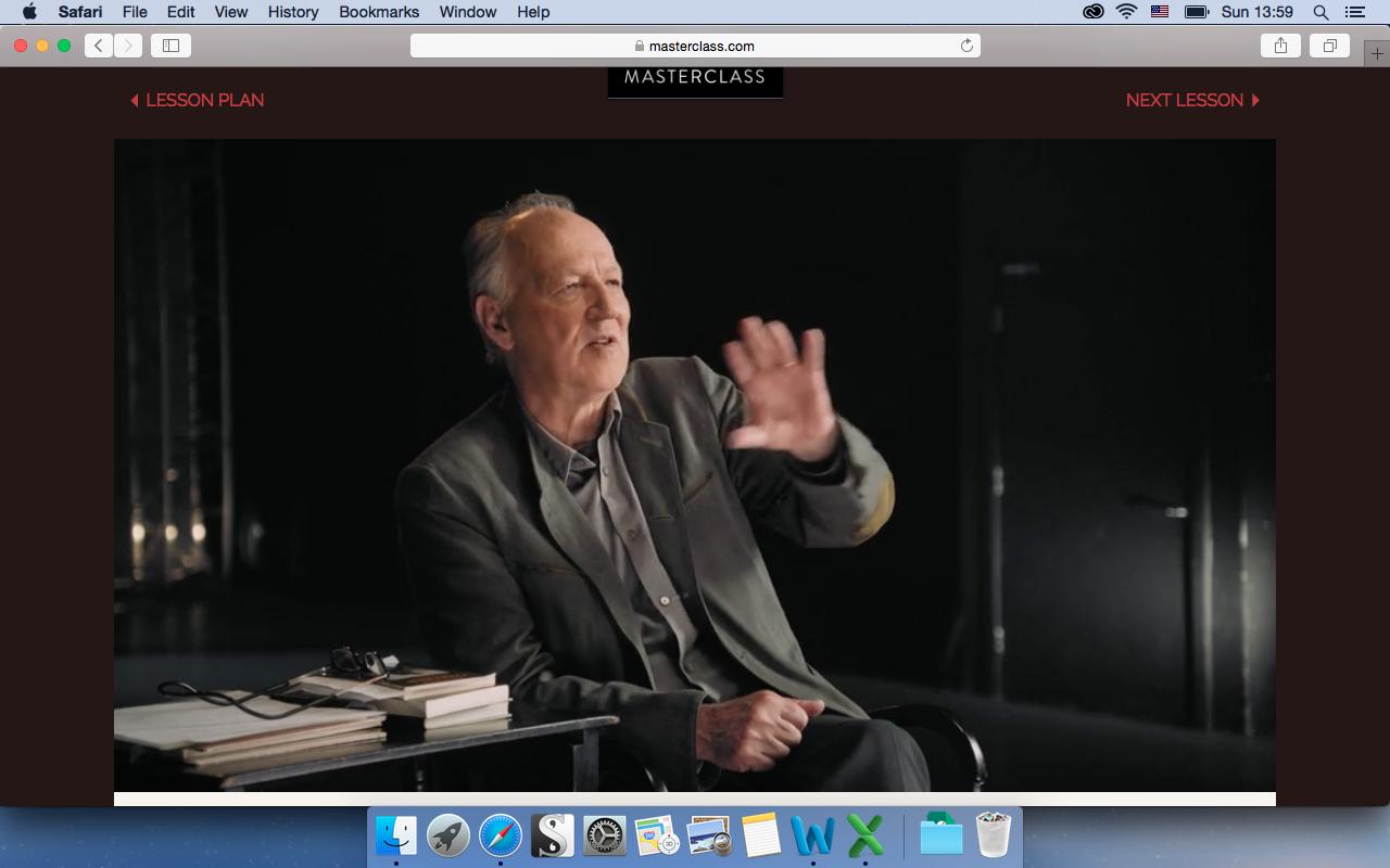 Werner Herzog Teaches Filmmaking Masterclass Review (Week 1