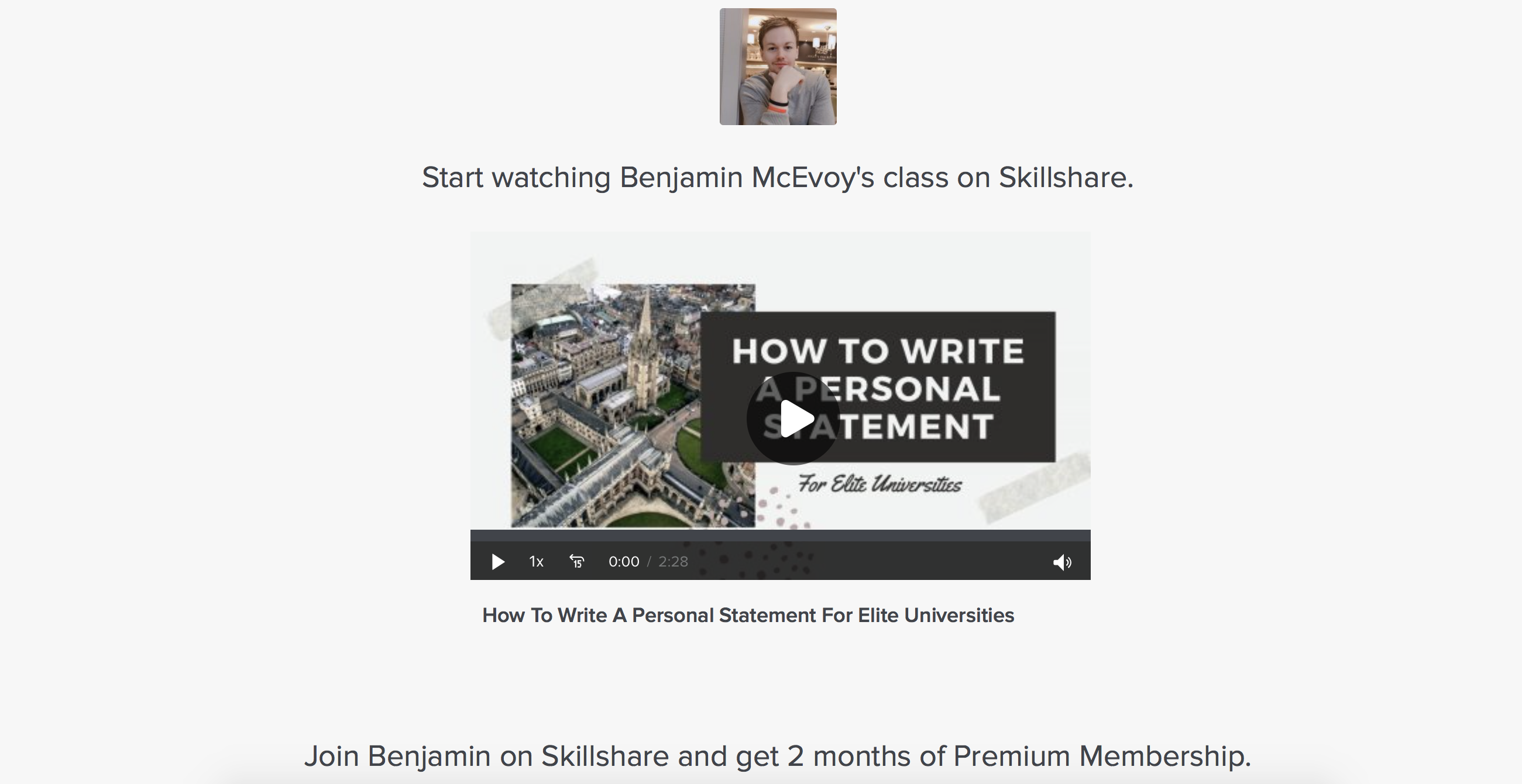How to Write a Personal Statement for Elite Universities (Skillshare